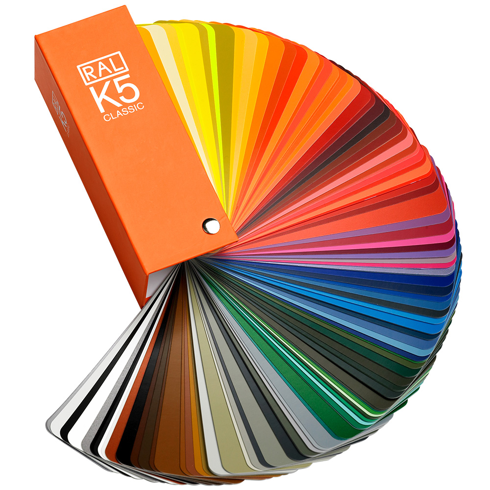 RAL K5 CLASSIC Colour Chart Swatch Semi Matte